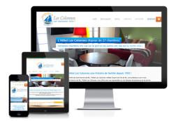 Création site internet responsive Hôtel Les Colonnes