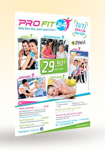 Création flyer A4 Profit 24