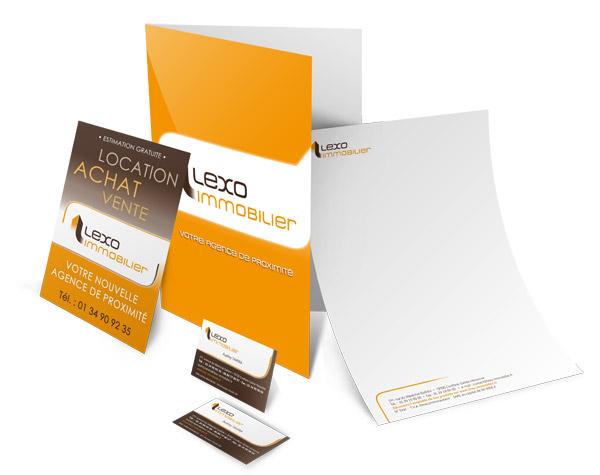 Création supports de communication LEXO Immobilier