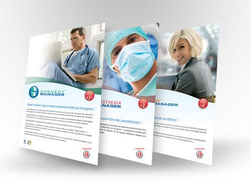 Création plaquette A4 Surgery Manager