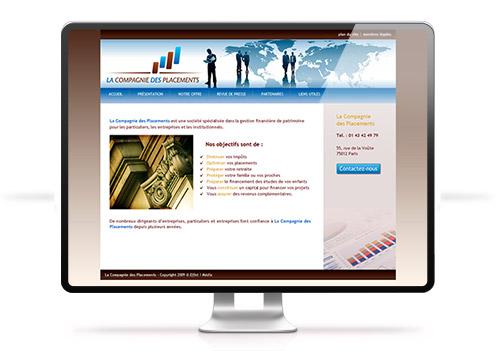 Création site internet La CIE des Placements
