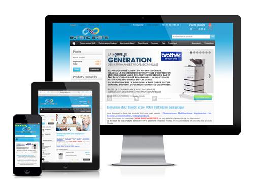 Création site e-commerce responsive Burotic Store