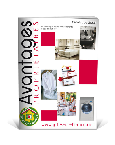 Création catalogue Gites de France 2008