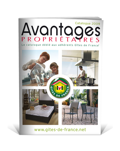 Création catalogue Gites de France 2009