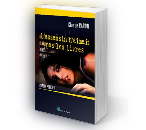 Création couverture du livre L'assassin n'aimait pas les livres