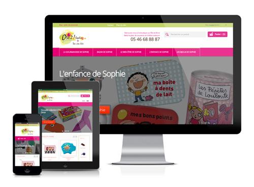 Création du site e-commerce responsive Osez Sophie
